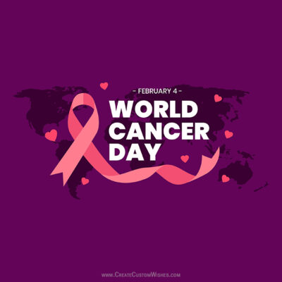 Write Name on World Cancer Day Pic