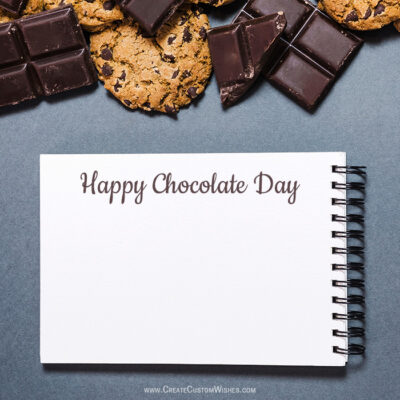 Add Name & Photo on Chocolate Day Greeting