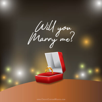 Create Will you marry me with Name Card