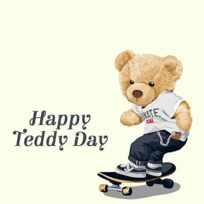 Add Name & Photo on Teddy Day Greeting