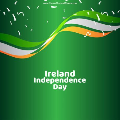Add Name on Ireland Independence Day Image