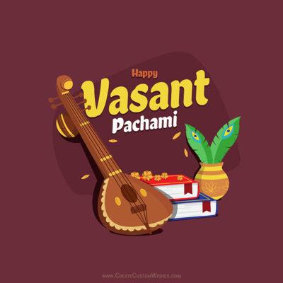 Add Name on Vasant Panchami Greetings