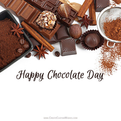 Create Chocolate Day with Name & Photo