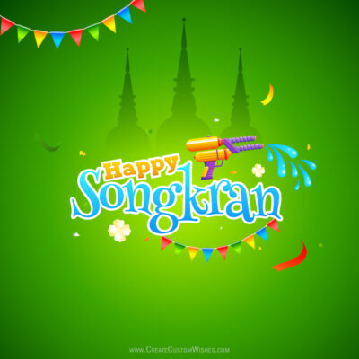 Create Custom Songkran Festival Wishes
