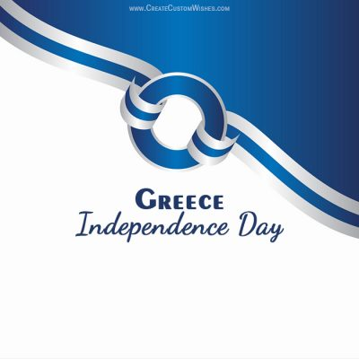 Create Greece Independence Day with Name