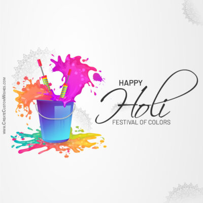 Create Holi Wishes card for Company