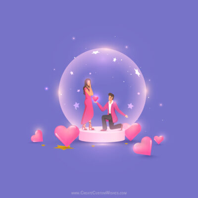 Create Online Propose Day Greeting Card