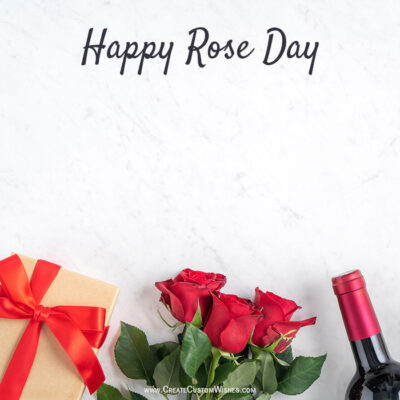 Create Online Rose Day Greeting Card