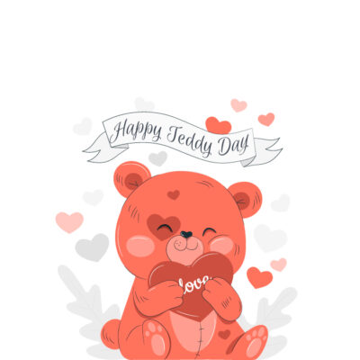 Create Online Teddy Day Greeting Card
