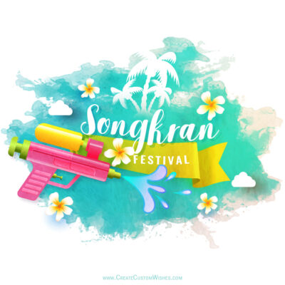 Create Songkran New Year with Name