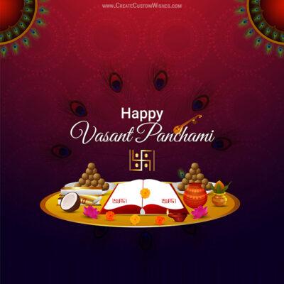 Create Vasant Panchami with Name Image