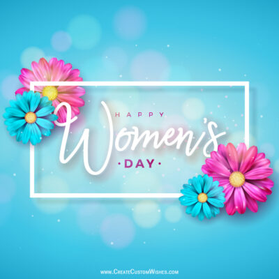 Create Women's Day with Name Image