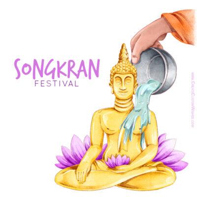 Customize Songkran Greeting Card