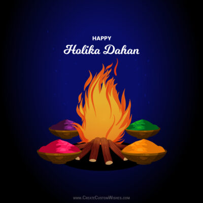 Make Holika Dahan 2021 Greeting Card