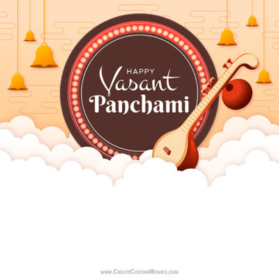 Make Vasant Panchami Image for Company
