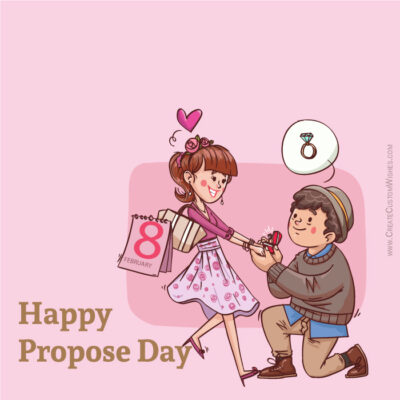 Personalize Propose Day Greeting Images