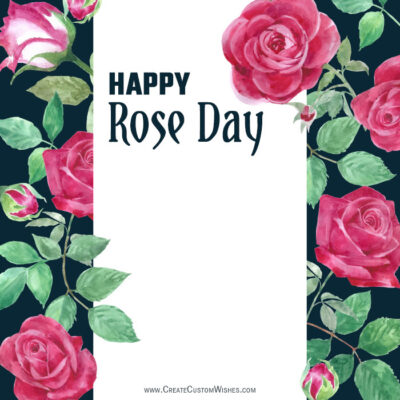 Personalize Rose Day Greeting Images