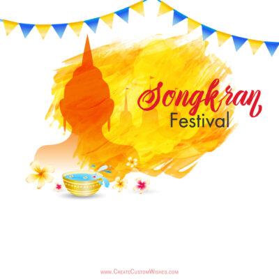 Personalize Songkran Festival Card