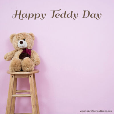 Personalize Teddy Day Greeting Images
