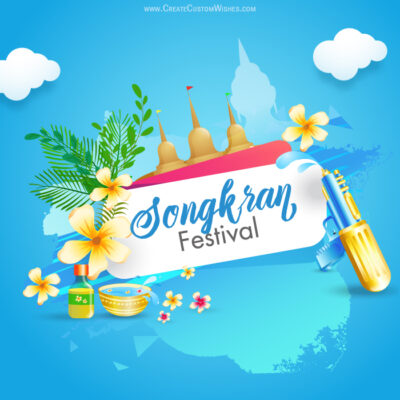 Songkran Festival Card for Thailand