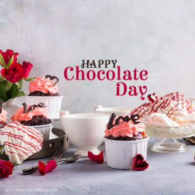 Write Name on Chocolate Day Wishes Image