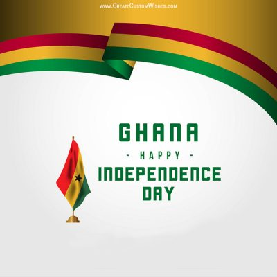 Write Name on Ghana Independence Day Pic