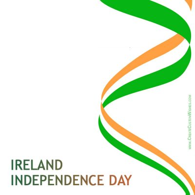 Write Name on Ireland Independence Day Pic