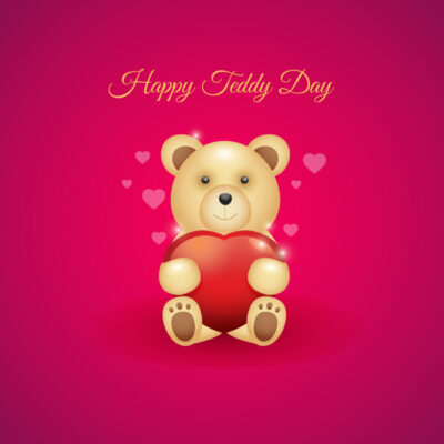 Write Name on Teddy Day Wishes Image