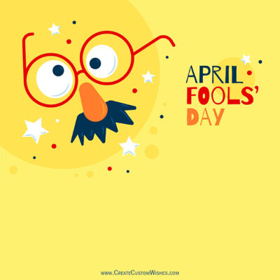 Add Name on April Fools Day Image
