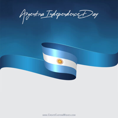 Add Name on Argentina Independence Day Image