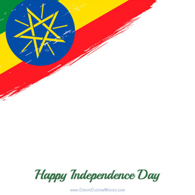 Add Name on Ethiopia Independence Day Image