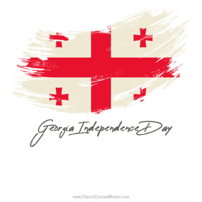 Add Name on Georgia Independence Day Image