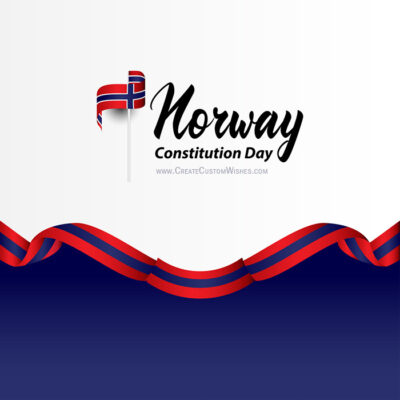 Add Name on Norway Constitution Day Image