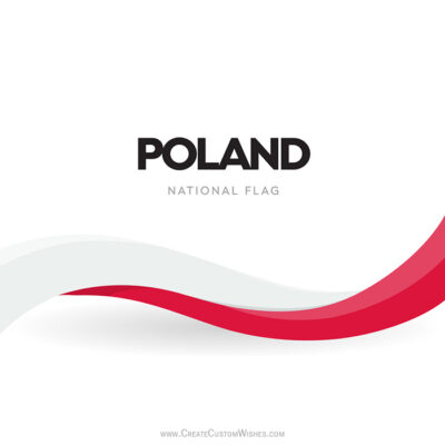 Add Name on Poland Independence Day Image