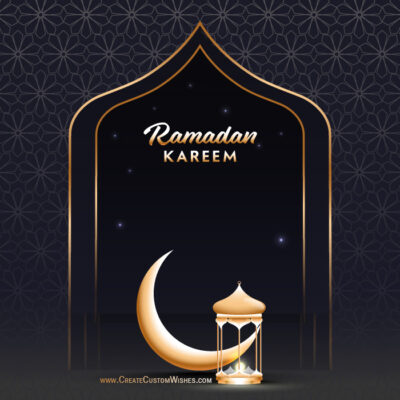 Add Name on Ramadan Eid Mubarak Cards