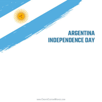 Argentina Independence Day with Name Greeting