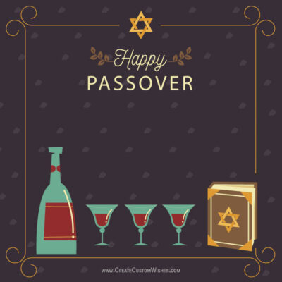 Create Custom Passover Greeting Cards