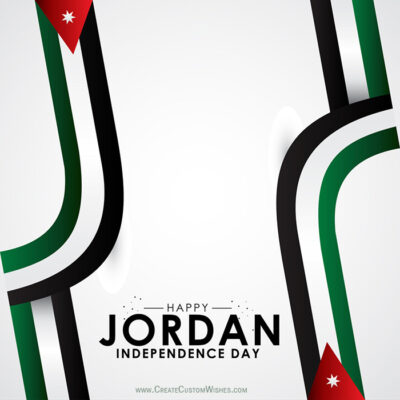 Create Jordan Independence Day Wishes
