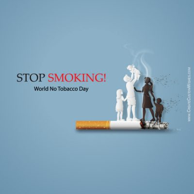 Create No Smoking Day with Name & Text