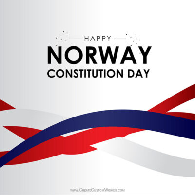 Create Norway Constitution Day Wishes