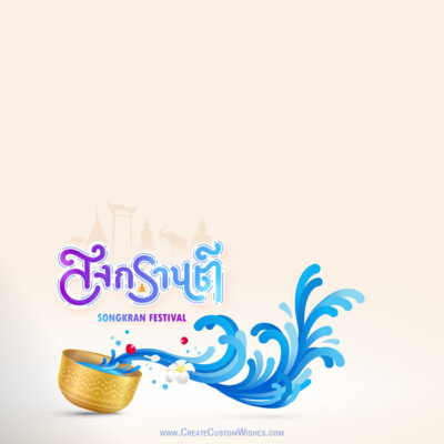 Create Songkran Wishes Card for Company