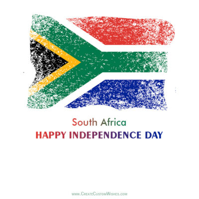 Create South Africa Independence Day Greetings