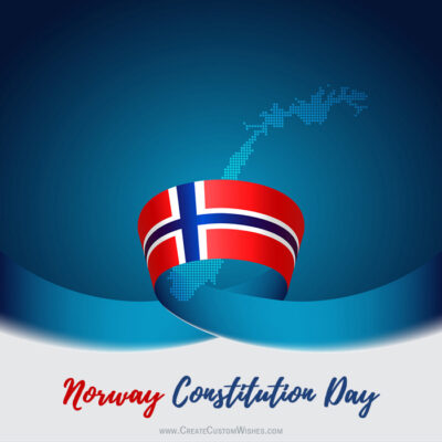 Customize Norway Constitution Day Greeting