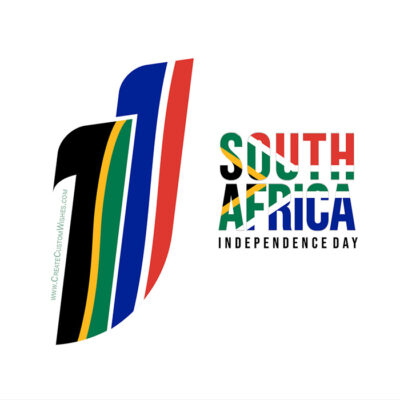 Customized South Africa Independence Day Card