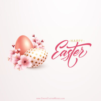 Easter Egg with Name Greeting Card