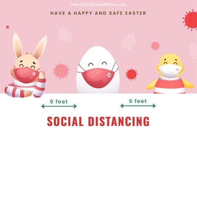 Easter Social Distancing Greeting Cards