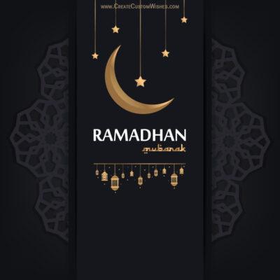 Editable Greeting Card for Ramadan Eid