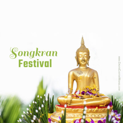 Editable Happy Songkran Festival Cards
