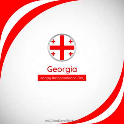 Georgia Independence Day with Name Image