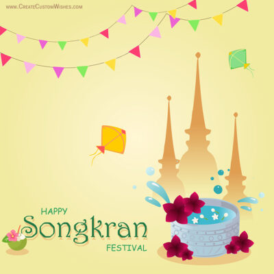 Greeting Card for Thai New Year Songkran